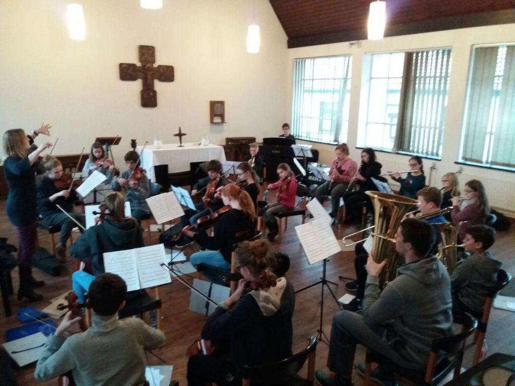 Schulorchester - Probenwochenende in Nütterden 2017